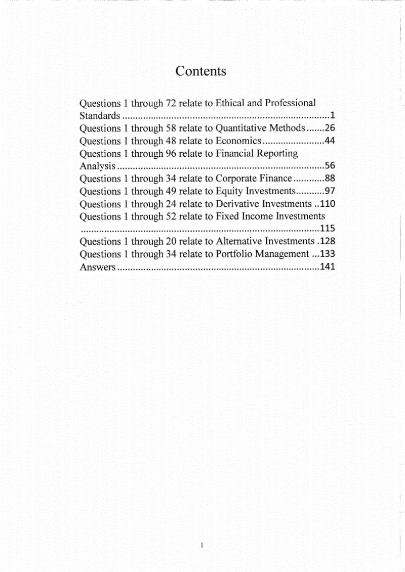 CFA一级百题+考题合集大综合.pdf