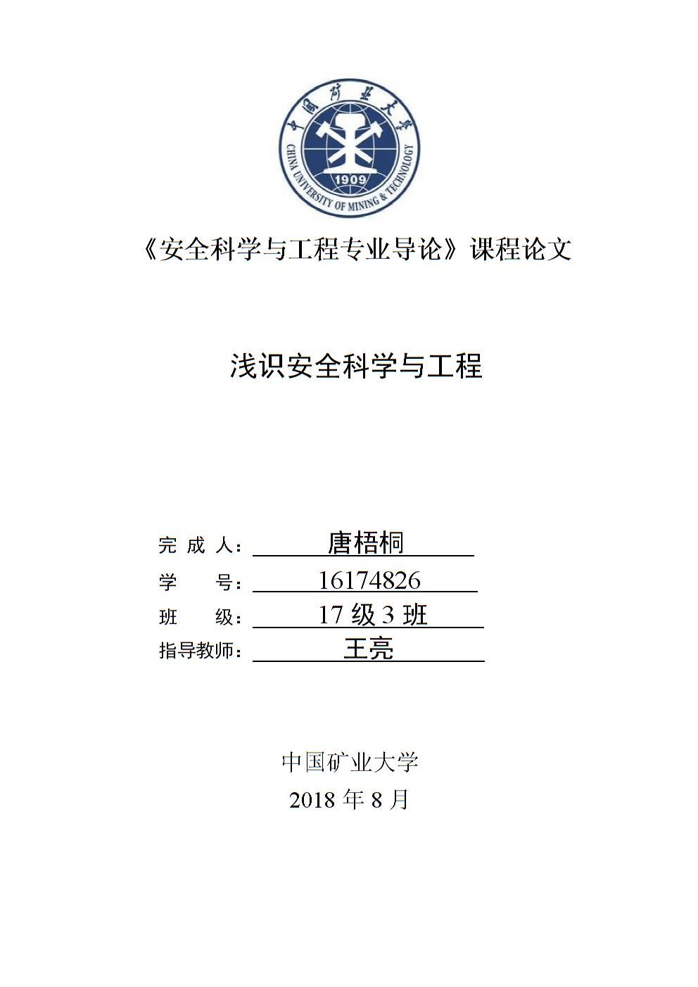 安全工程课程导论论文模板1.docx
