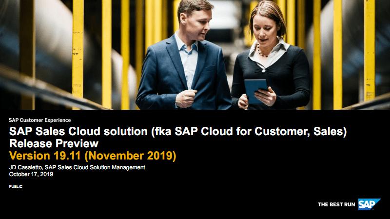 SAP销售云1911版本新功能介绍英文版C4C Sales 1911 Release brief_EN_Sales.pdf