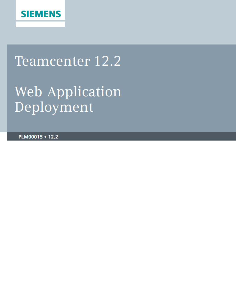 Teamcenter 12.2 Web应用程序部署.pdf