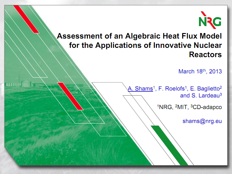 应用于新型核反应堆的代数热流模型的评估.pdf