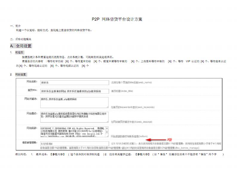 P2P网络借贷平台设计方案(后台).pdf