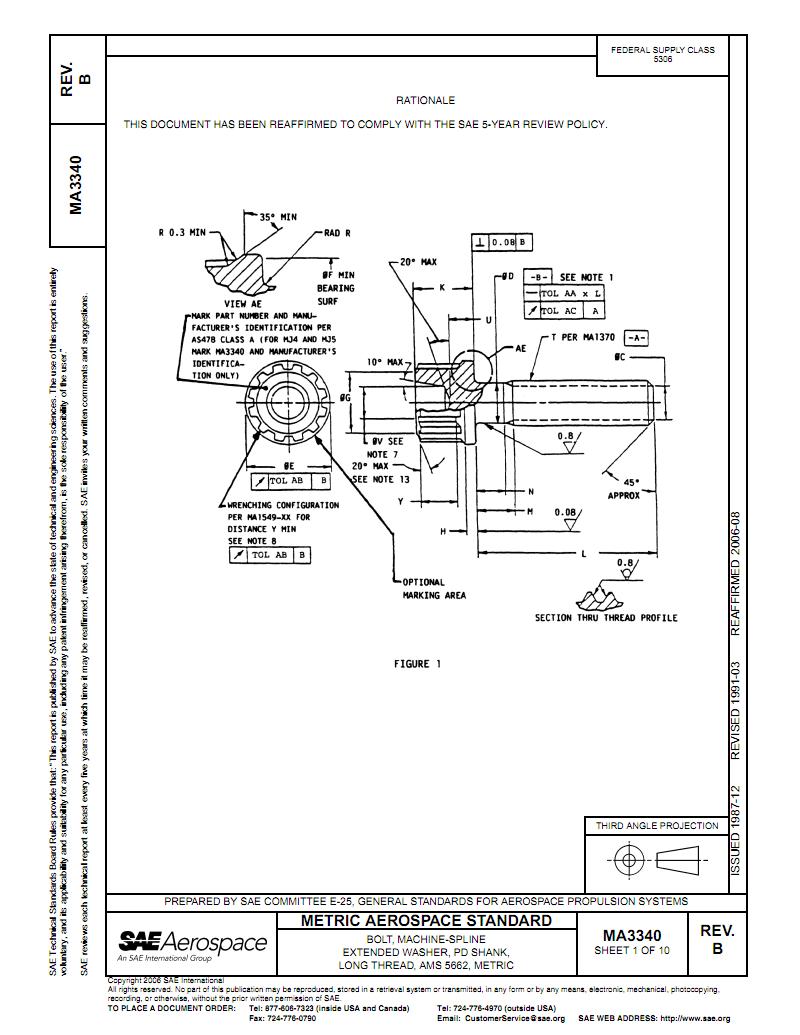 SAE MA 3340-06公制AMS 5662机制花键头大法兰缘细杆长螺纹螺栓.pdf