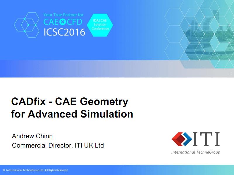 CADFIX - 用于高级仿真的CAE几何.PDF