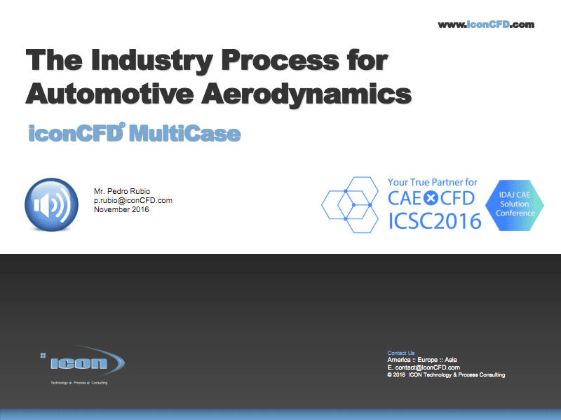 iConCFD MultiCase - 汽车空气动力学分析的工业流程.PDF