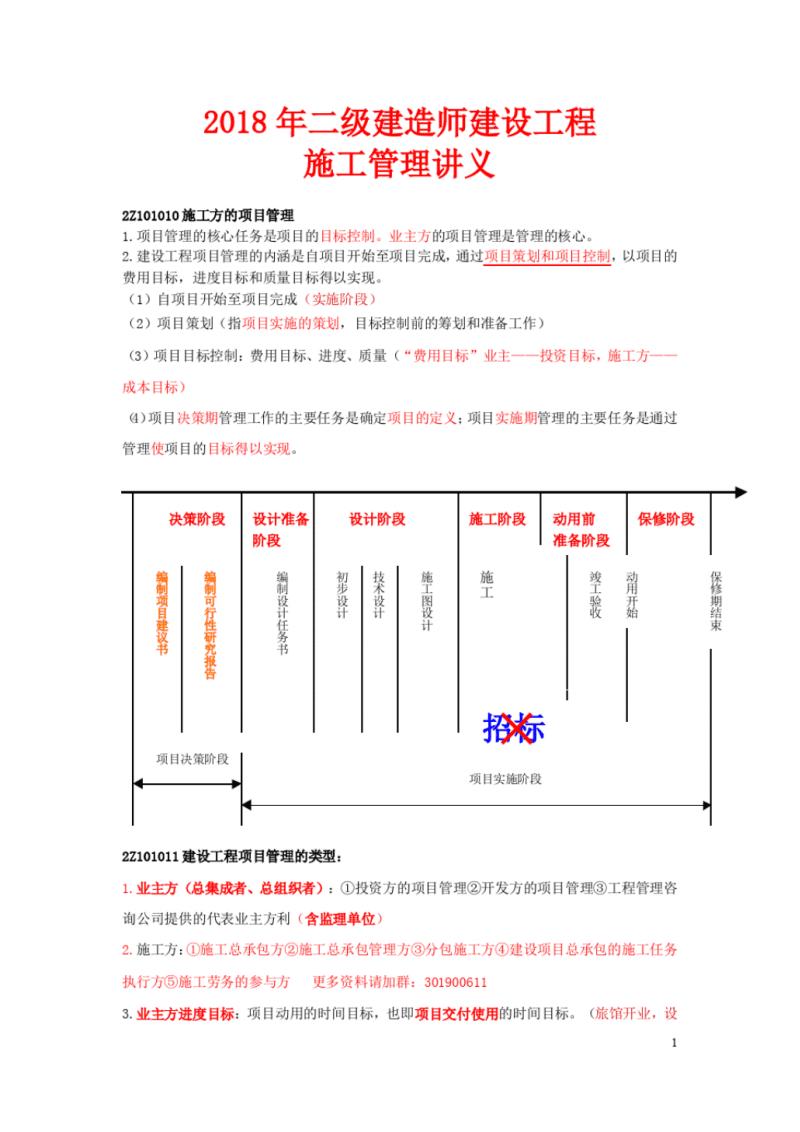 2018年二级建造师管理.pdf