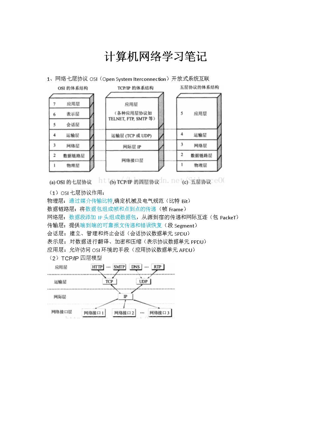 计算机网络面试知识点.doc