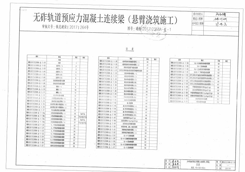 通桥(2017)2368A-Ⅱ-1时速350公里高速铁路40+56+40m无砟轨道预应力混凝土连续梁.pdf