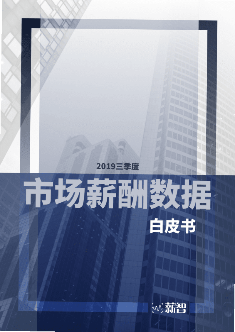 2019第三季度市场薪酬数据白皮书.pdf