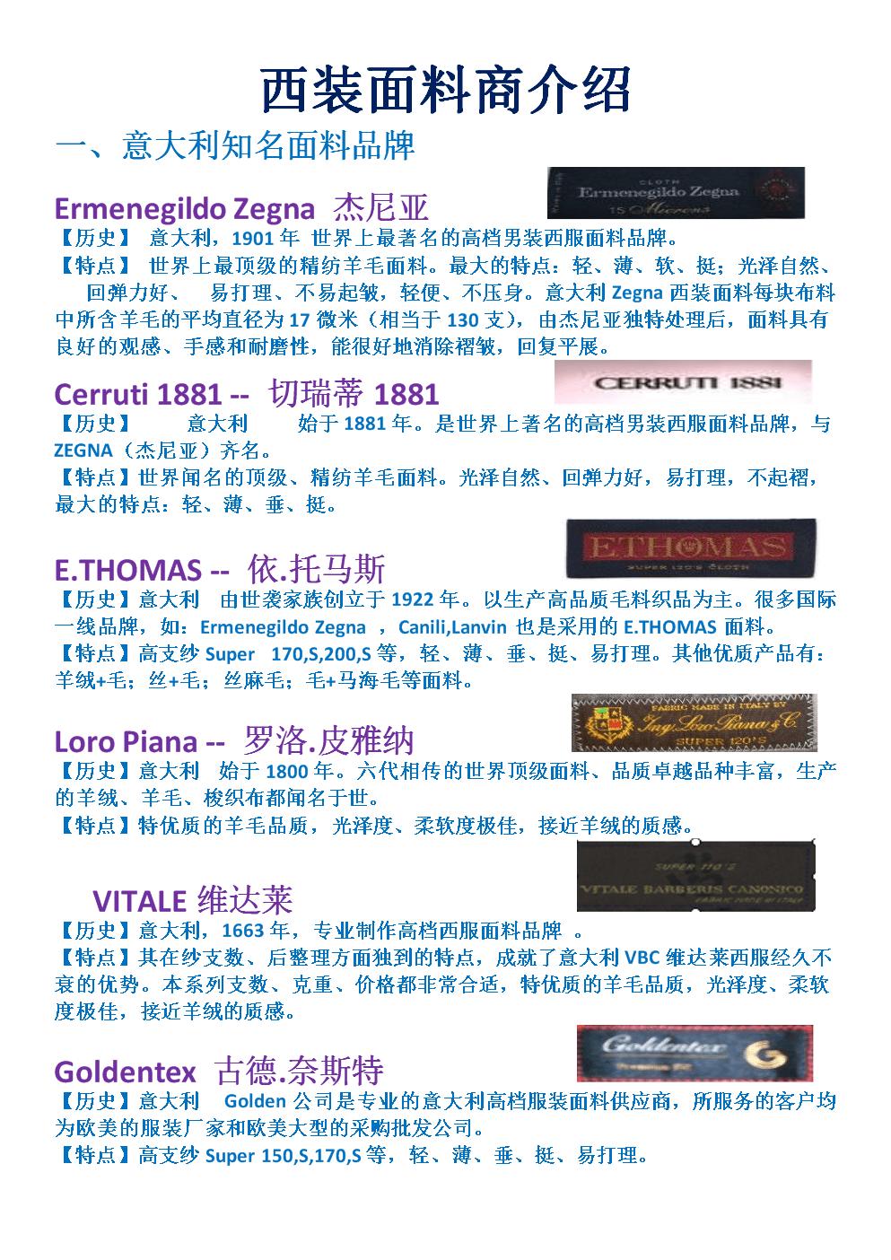 面料介绍 职业定制类高端面料.doc