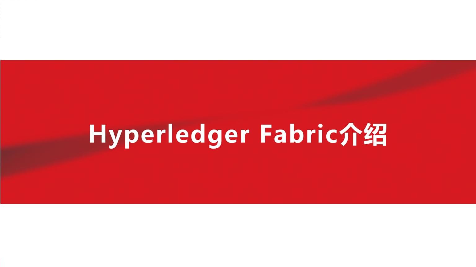 Hyperledger Fabric联盟链框架简介.pptx
