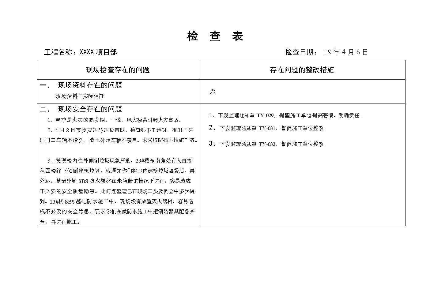 周一上传检查表.doc