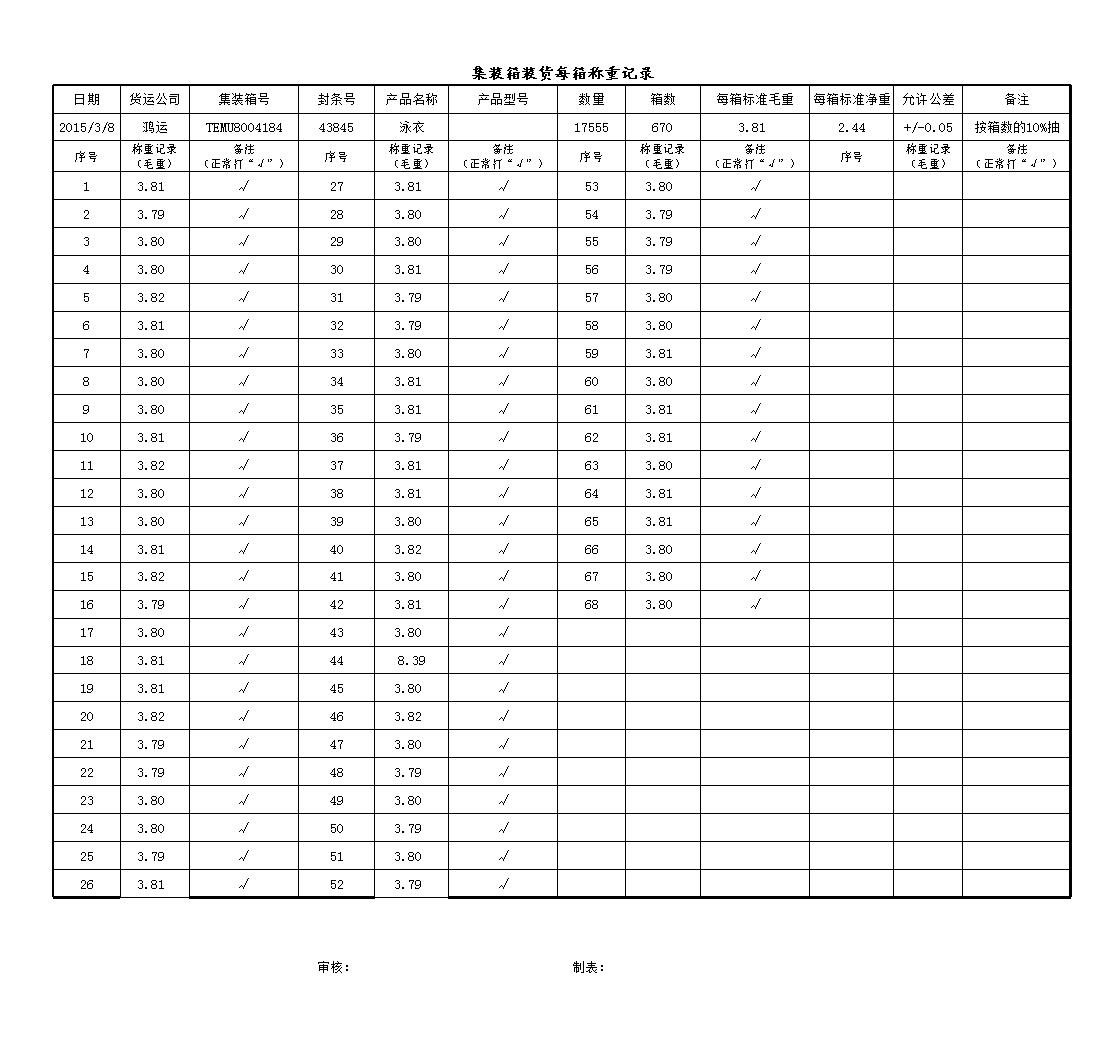 集装箱装货每箱称重记录 HDMU6469574  8-13.xls