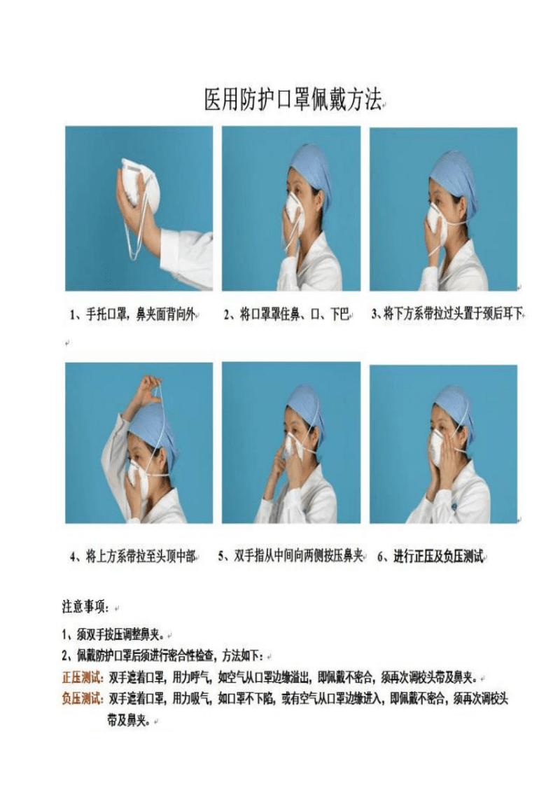 医疗机构医院医用防护口罩佩戴和摘除流程与方法.pdf