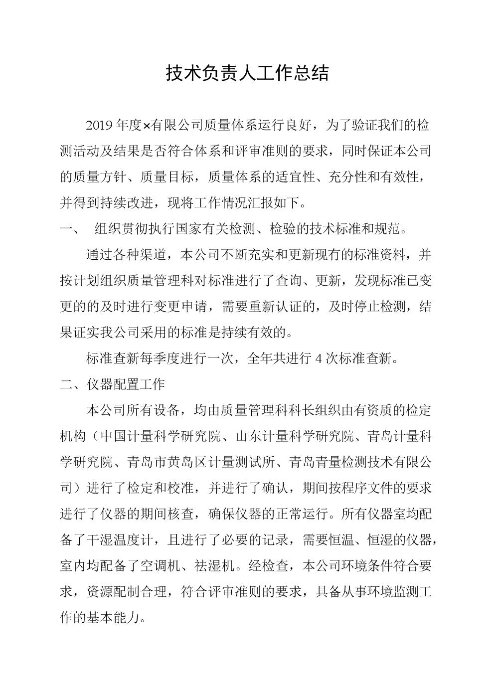 2019技术负责人工作总结.doc