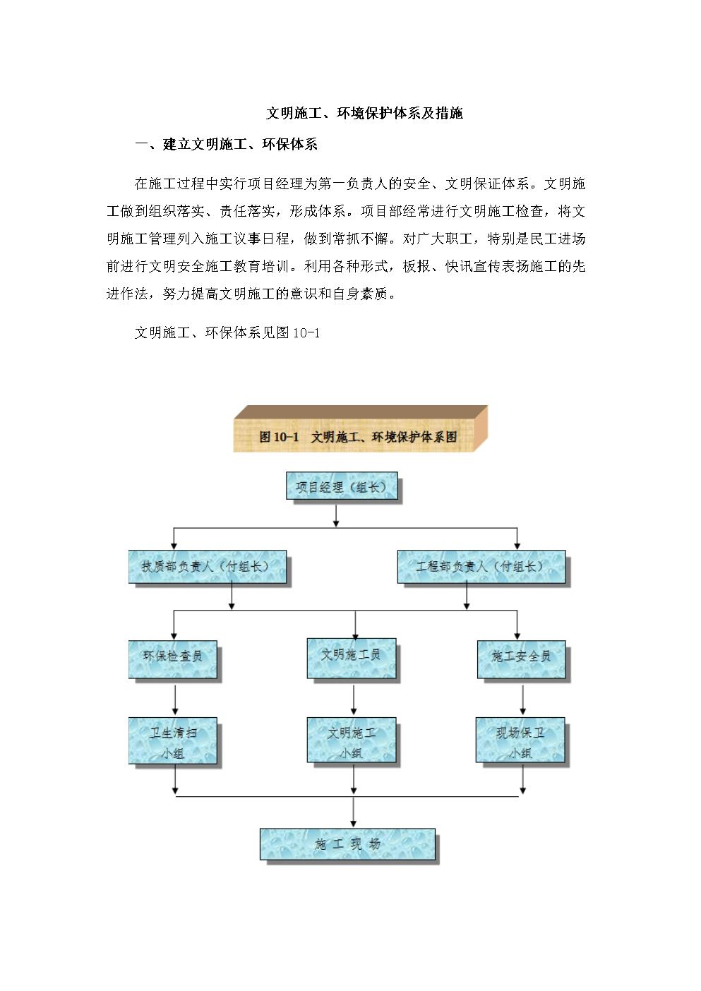文明施工环境保护体系及措施.docx
