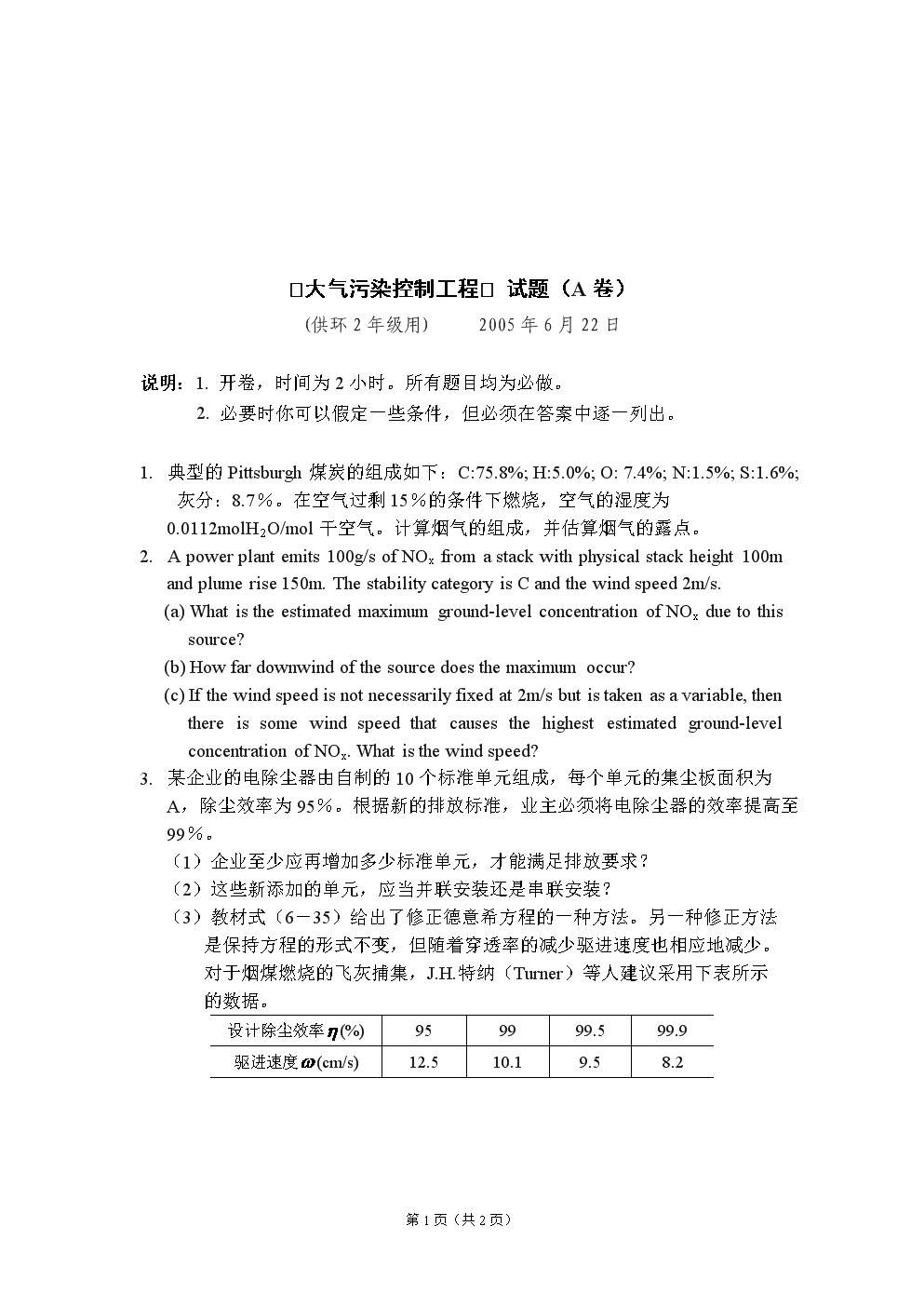 2005.6大气污染控制工程.doc