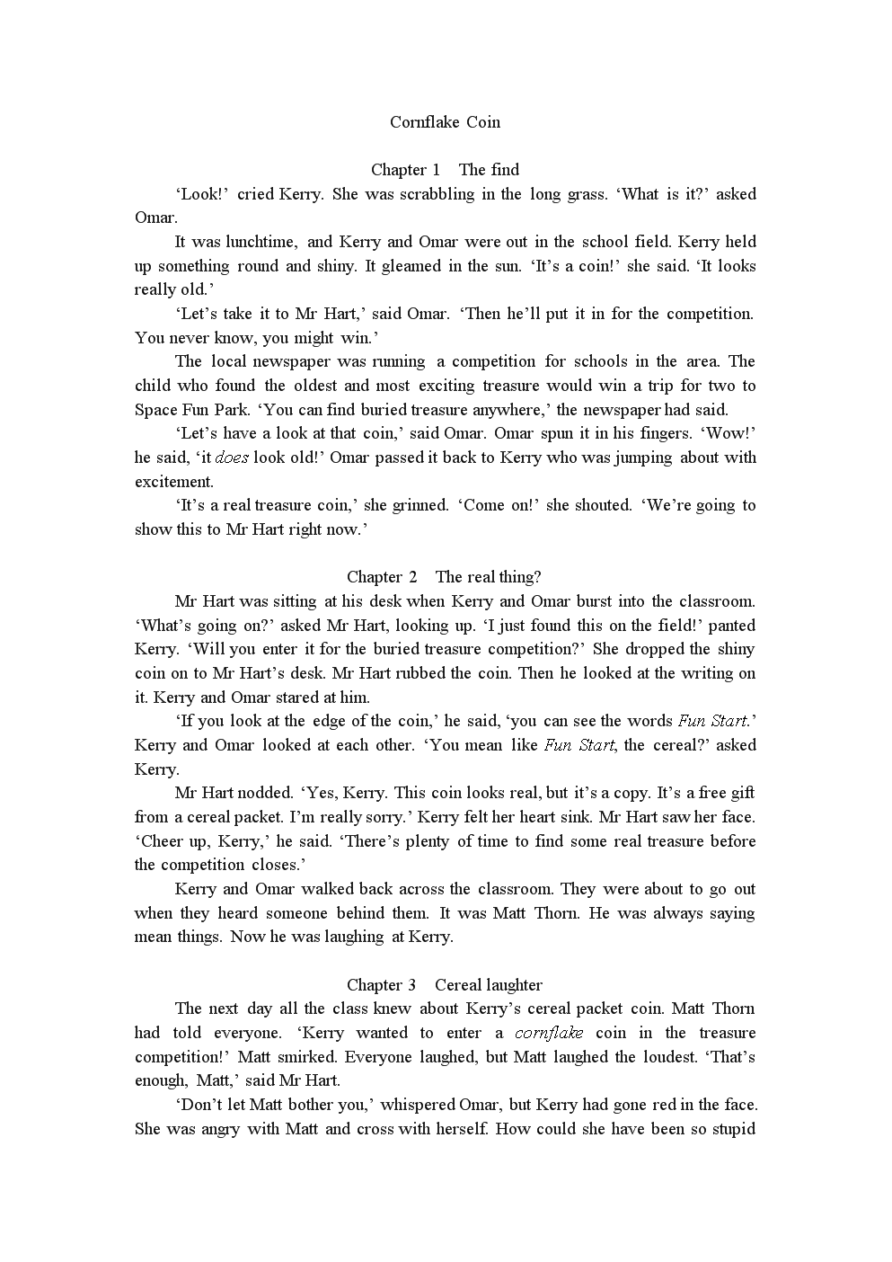 Cornflake Coin典范英语.doc