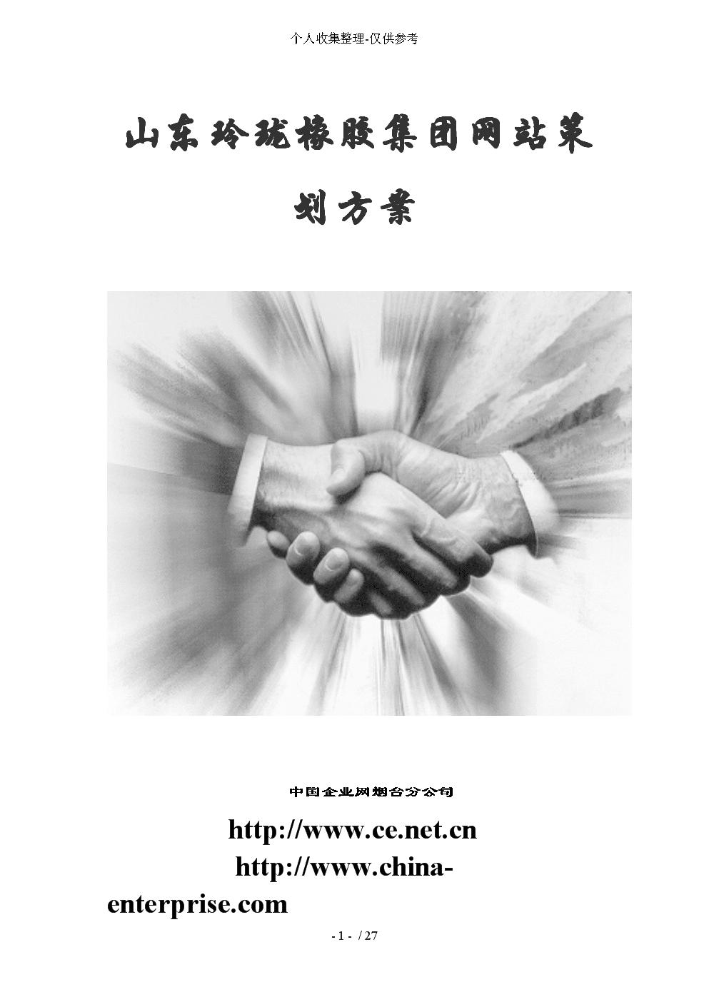 山东玲珑橡胶集团网站策划实施方案.doc