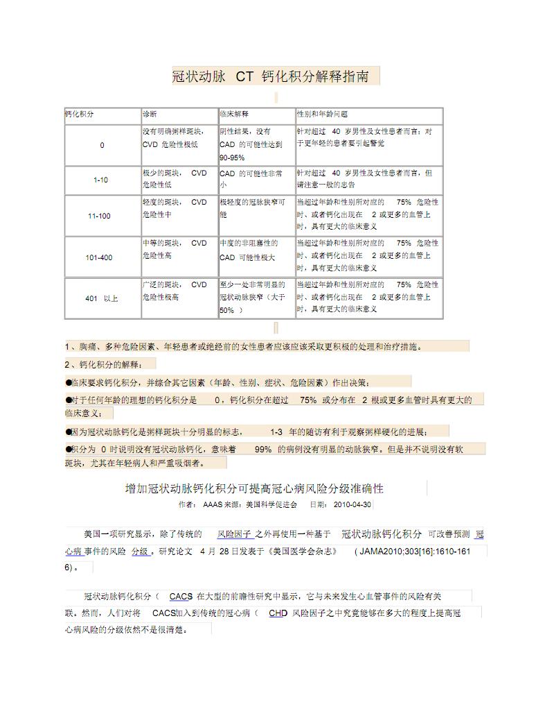 冠状动脉CT钙化积分解释指南.pdf