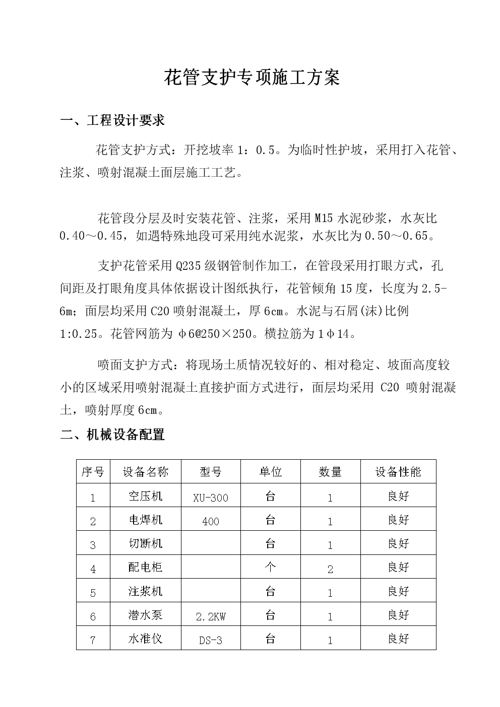 花管支护专项方案.docx