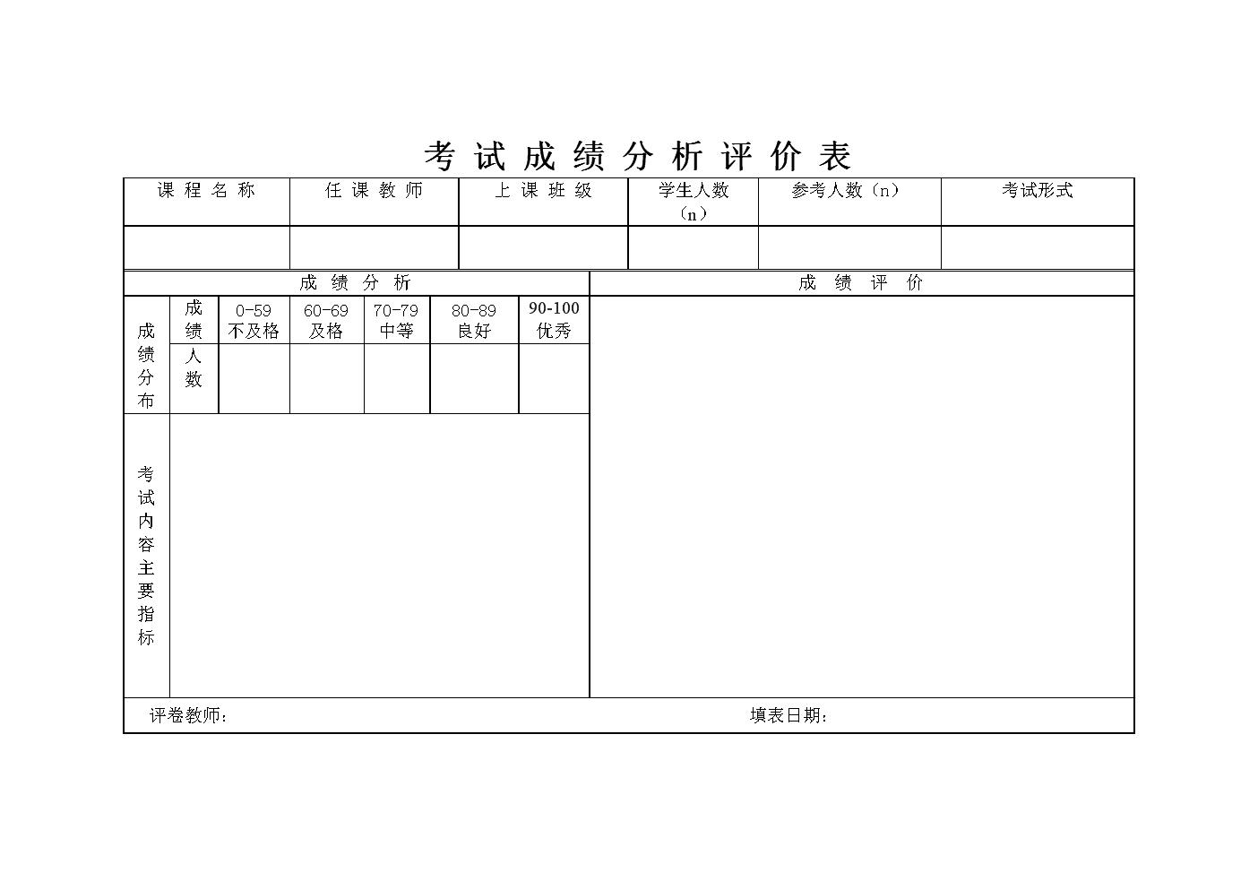 考_试_成_绩_分_析_评_价_表.doc