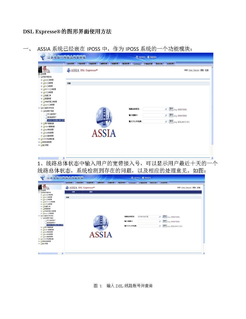系统ASSIA使用方法.docx