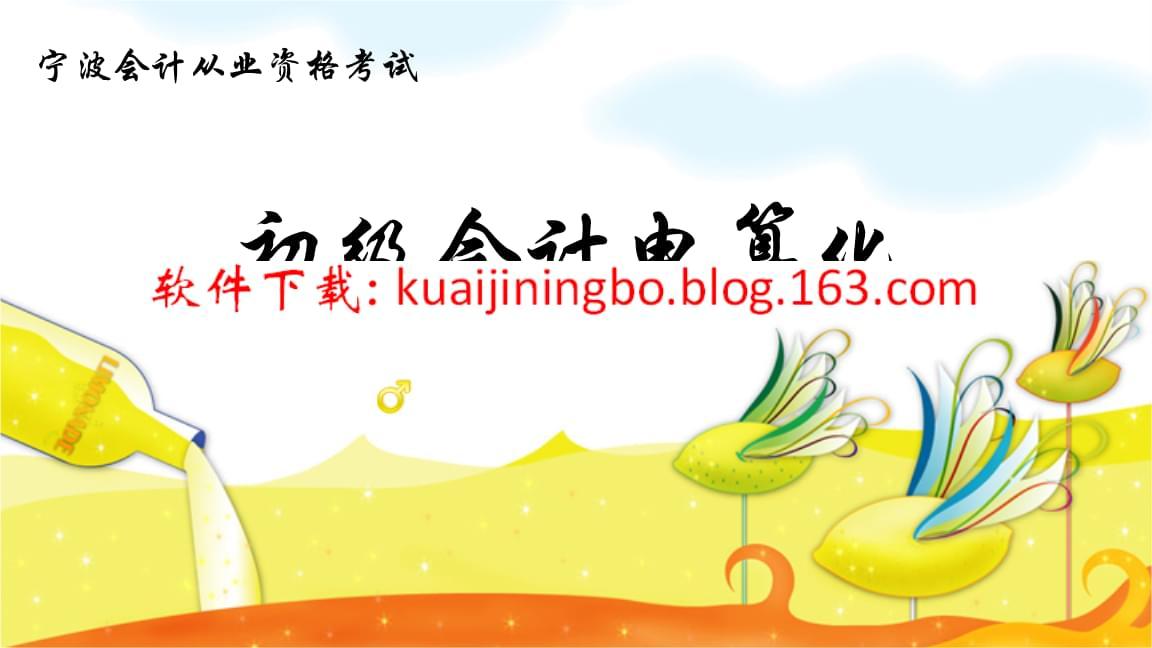 2019年宁波会计从业资格考试天顿会计电算化考试软件.ppt