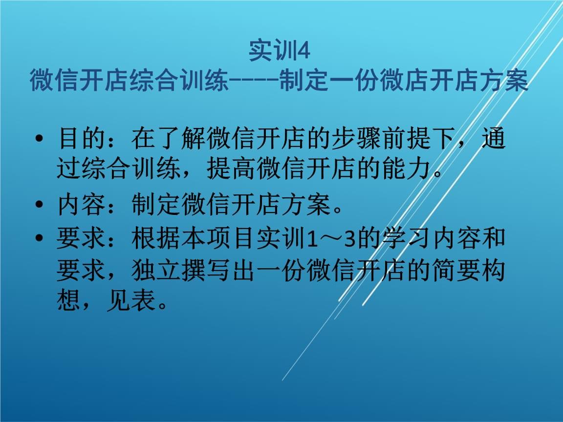 网上开店实务实训10-4综合训练.pptx
