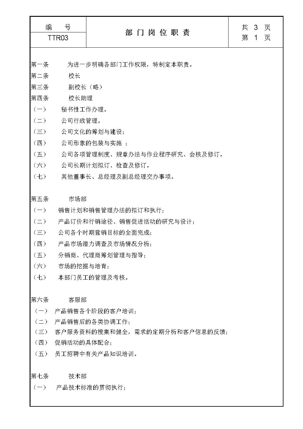 XX教育机构职位说明书.doc