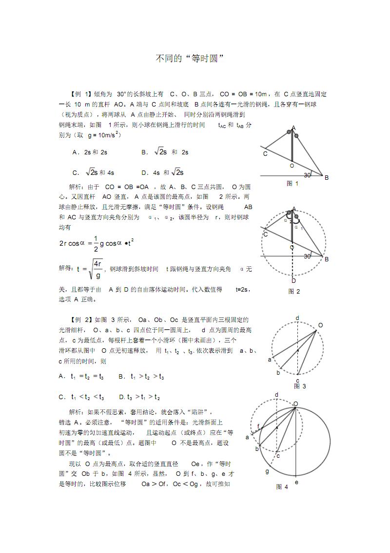 """高中物理""""等时圆""""大家共享.pdf"""