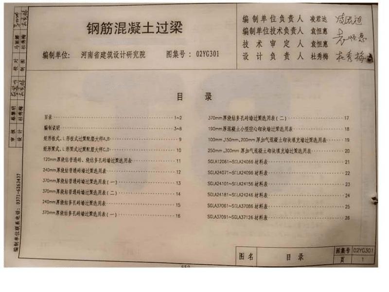 豫02YG301 钢筋混凝土过梁.pdf