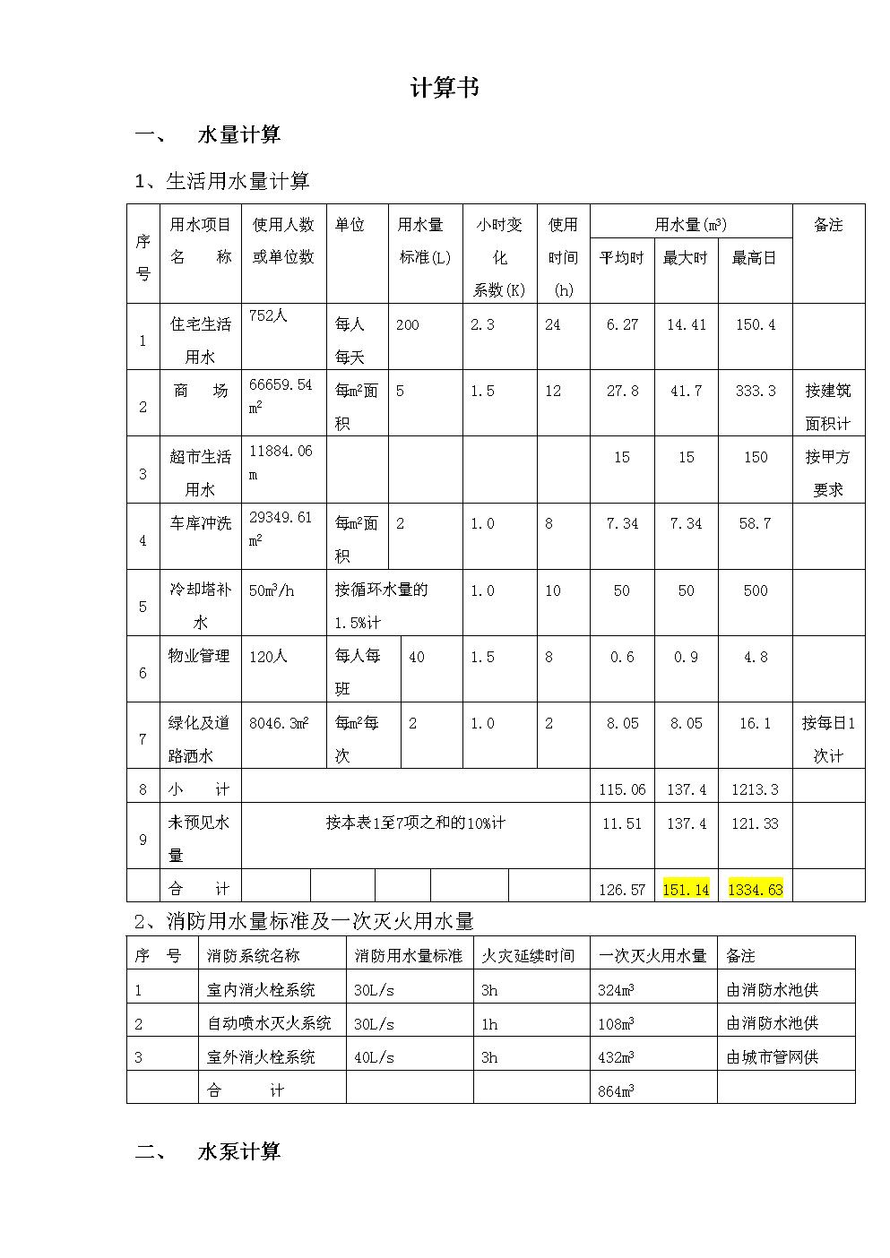 荣昌给排水计算书.docx