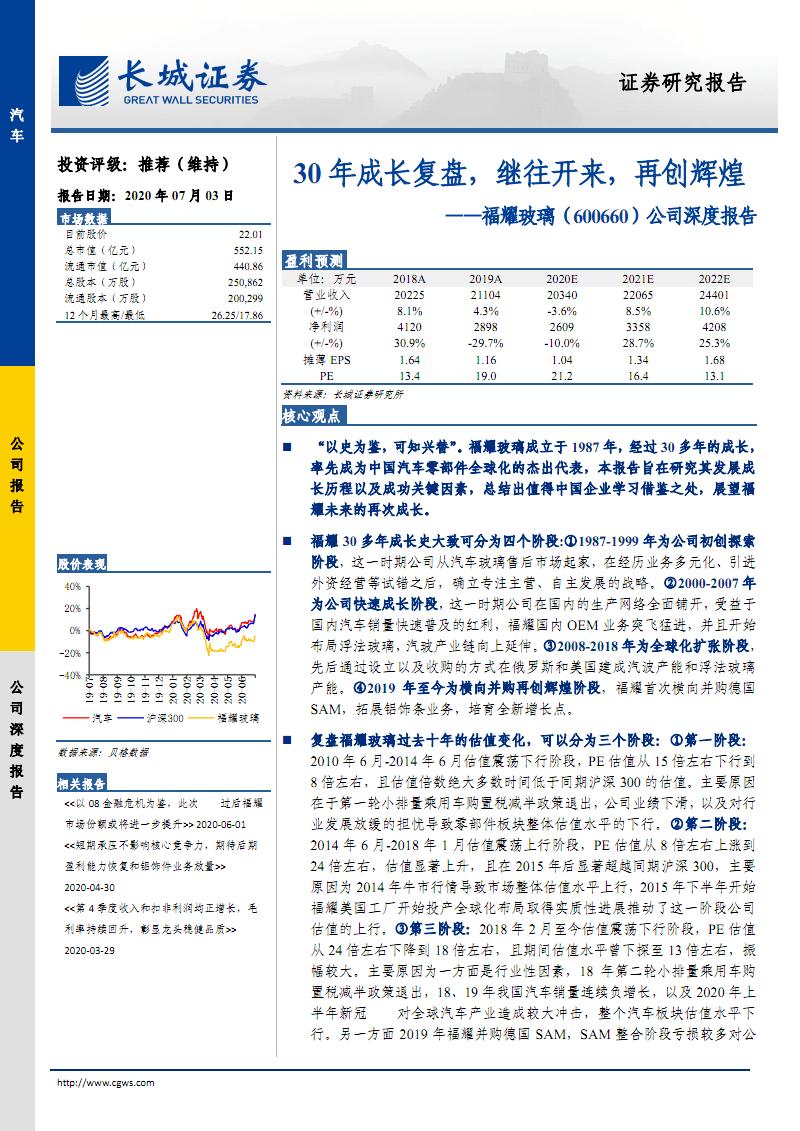 福耀玻璃-市场前景及投资研究报告:30年成长,继往开来,再创辉煌.pdf