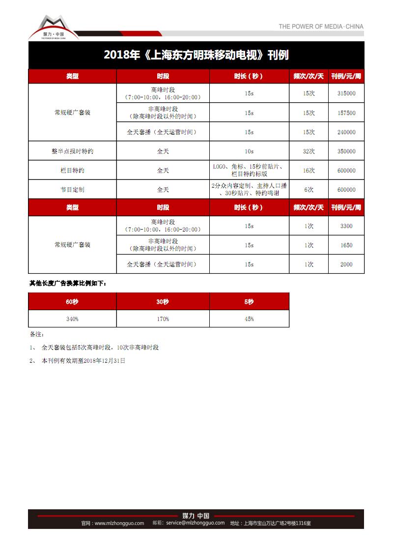 2018年公交电视广告价格上海东方明珠移动电视广告刊例媒力·中国.pdf
