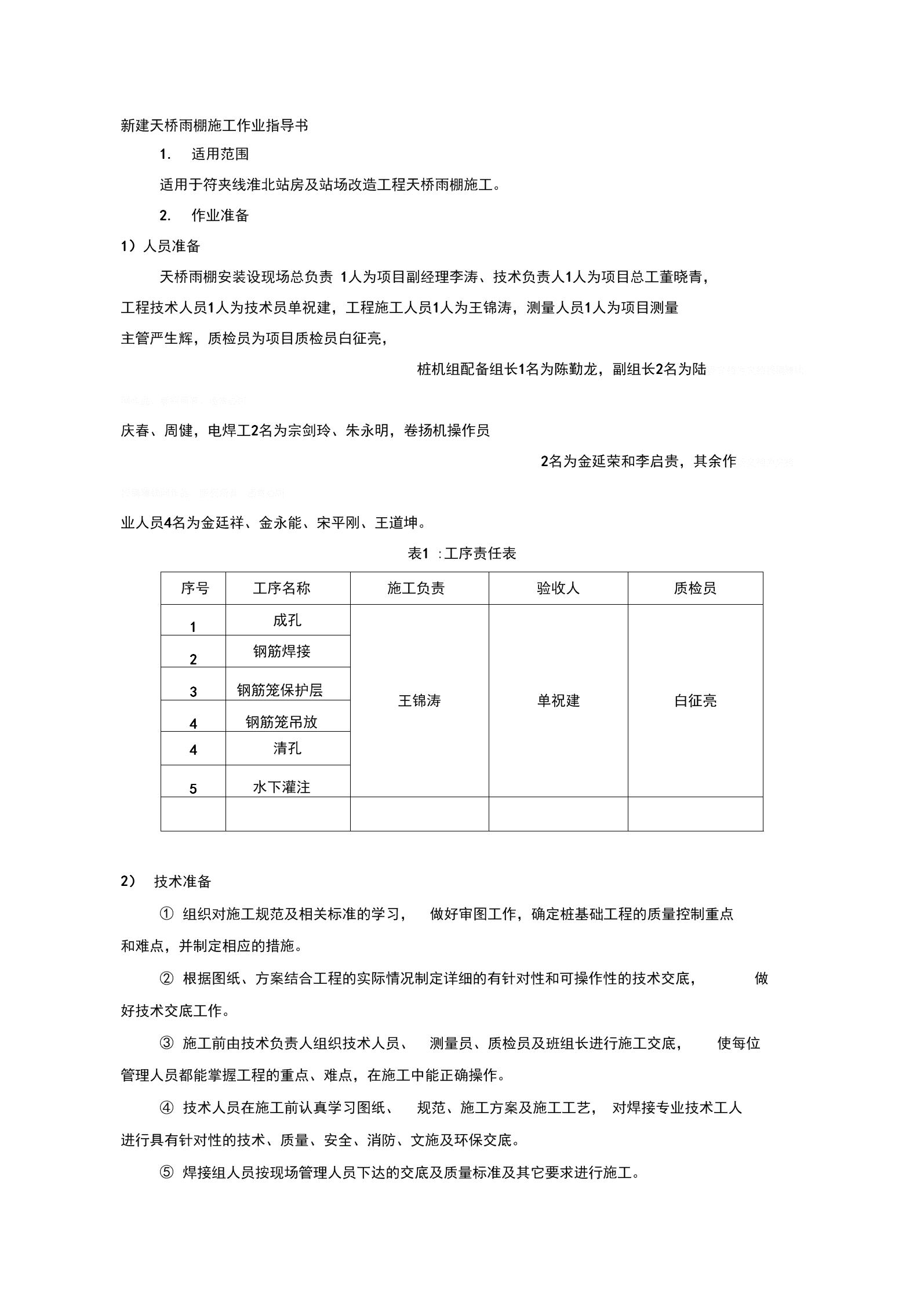 天桥雨棚施工作业指导书.docx