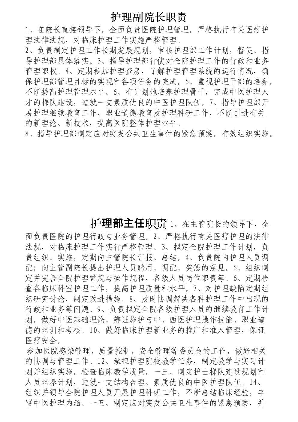 中医护理人员职责概述.docx