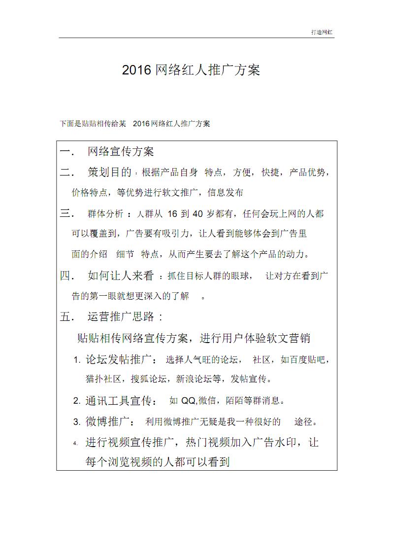 网络红人推广方案.pdf