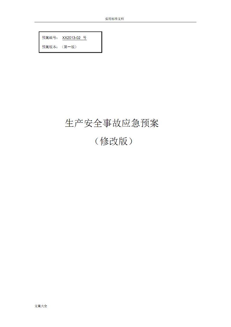 安全系统生产应急预案(专家评审过的).pdf
