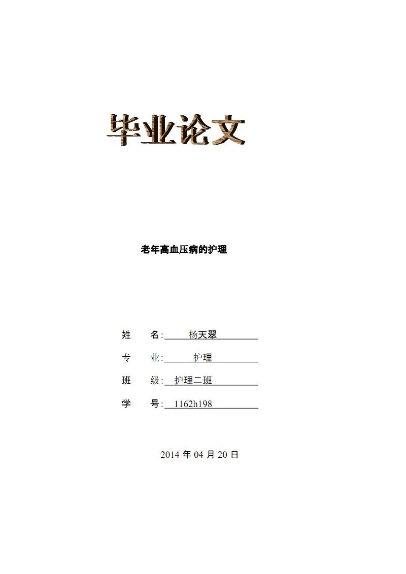 老年高血压病的护理(论文).pdf