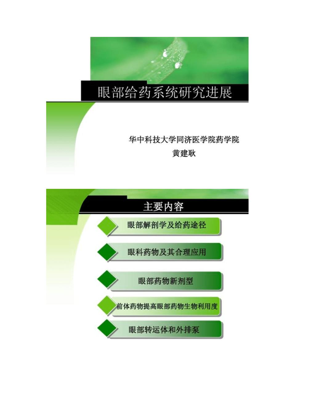 【图文】眼部给药系统研究进展.doc