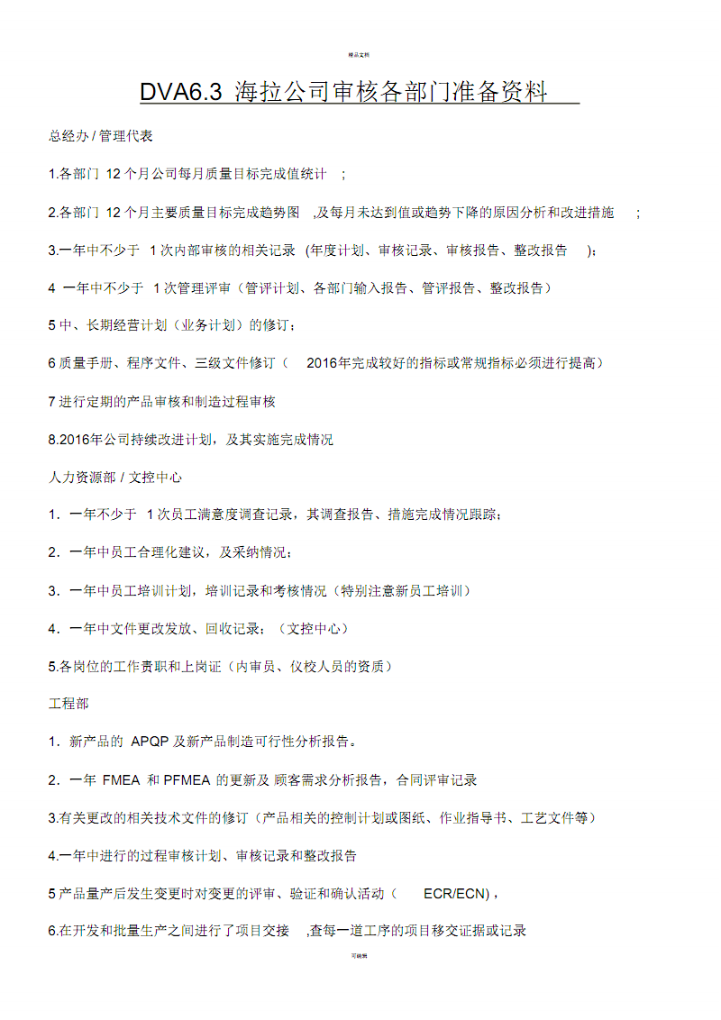 TS审核必备资料清单.pdf