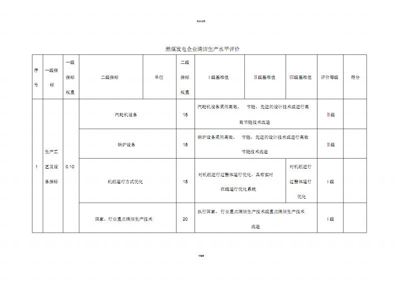 《电力行业(燃煤发电企业)清洁生产-评价指标体系》(2015年5月).pdf