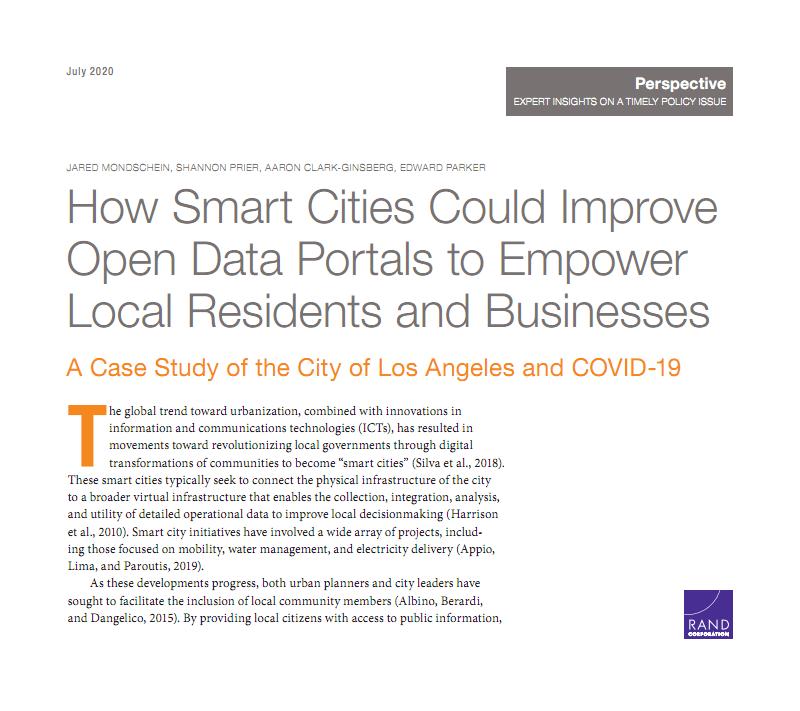 智慧城市如何改善开 放数据门户:洛杉矶市和新冠病毒的案例研究.pdf