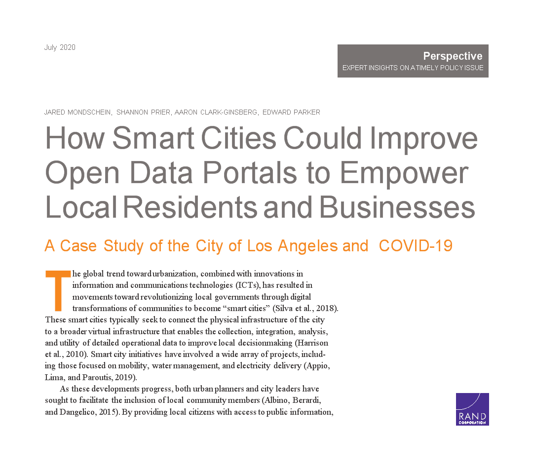 智慧城市如何改善开 放数据门户:洛杉矶市和新冠病毒的案例研究.docx
