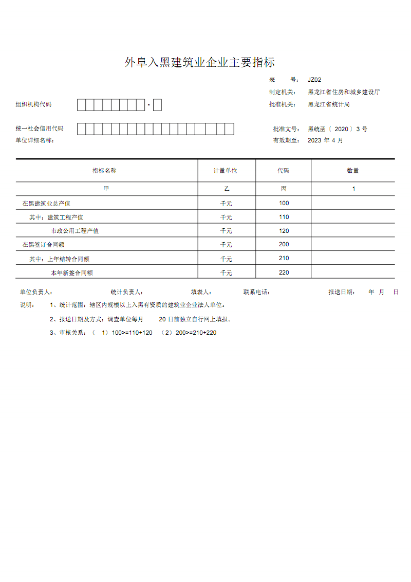 外阜入黑建筑业企业指标网络快报--JZ02表.pdf