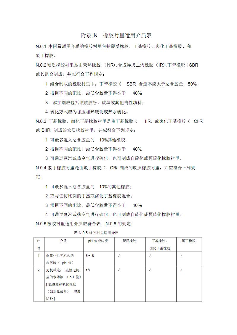 工业设备及管道防腐蚀工程-橡胶衬里适用介质表.pdf