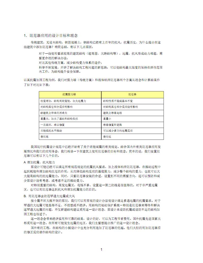 建筑用液体粘滞阻尼器设计方法简介.pdf