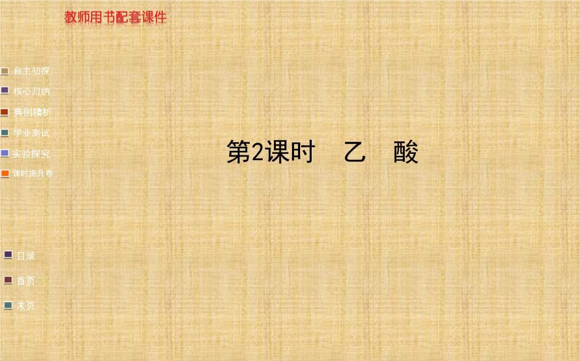 乙酸课件(鲁科版必修2).ppt