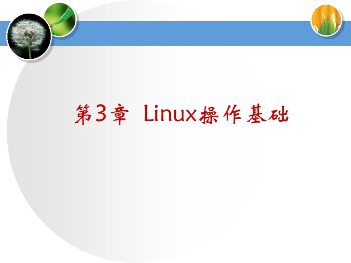 佛山科学技术学院linux第三章 Linux操作基础.ppt